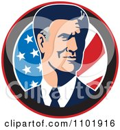 Clipart Mitt Romney Republican American Presidential Candidate 2012 Royalty Free Vector Illustration