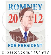 Mitt Romney In Retro Style With 2012 For President Text