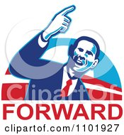 Clipart Barack Obama American President Over Forward Text Royalty Free Vector Illustration