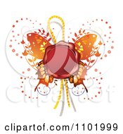 Clipart Red Wax Butterfly Seal Royalty Free Vector Illustration by merlinul