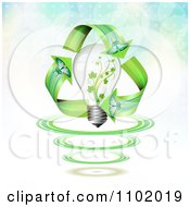 Clipart Butterfly Renewable Energy Arrows Around A Vine Light Bulb Royalty Free Vector Illustration by merlinul