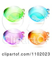 Clipart Reflective Colorful Water Drops 2 Royalty Free Vector Illustration by merlinul