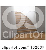 Clipart 3d Interior With Wooden Floors And A Staircase Royalty Free CGI Illustration