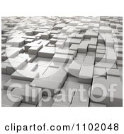 Clipart 3d Cubes At Different Heights Royalty Free CGI Illustration by Mopic