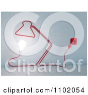 Clipart 3d Cord Forming A Desk Lamp With An Illuminated Bulb Royalty Free CGI Illustration