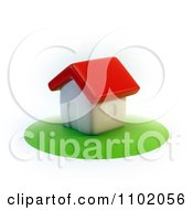Clipart 3d Home On A Circle Of Grass Royalty Free CGI Illustration