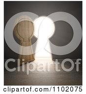 Clipart 3d Open Keyhole Door With Bright Light Royalty Free CGI Illustration by Mopic