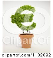 Clipart 3d Euro Shaped Potted Plant Royalty Free CGI Illustration by Mopic