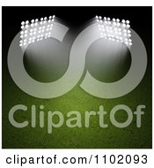 Clipart 3d Spot Lights Shining Down On A Sports Field At Night Royalty Free CGI Illustration by Mopic