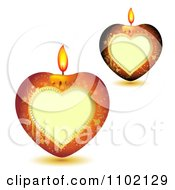 Clipart Heart Candles On White Royalty Free Vector Illustration