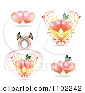 Clipart Butterflies With Hearts Royalty Free Vector Illustration