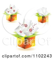 Clipart Boxes With Envelopes Royalty Free Vector Illustration