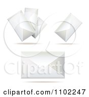 Clipart White Envelopes Royalty Free Vector Illustration