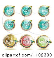 Clipart Round Butterfly Retail Sale Icons Royalty Free Vector Illustration by merlinul