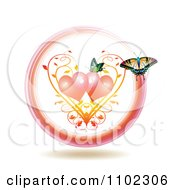 Clipart Butterflies And Hearts 9 Royalty Free Vector Illustration