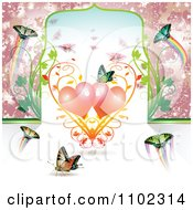 Clipart Butterflies And Hearts 8 Royalty Free Vector Illustration