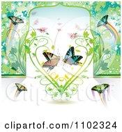 Butterflies And A Vine Heart