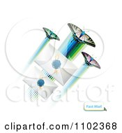 Clipart Butterflies And Wax Sealed Envelopes 2 Royalty Free Vector Illustration
