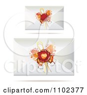 Clipart Letter Envelopes With Butterfly Wing Wax Seals Royalty Free Vector Illustration by merlinul