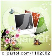 Clipart Instant Photo And Butterfly Background 7 Royalty Free Vector Illustration