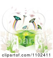 Clipart Butterfly Gift Box Background 1 Royalty Free Vector Illustration