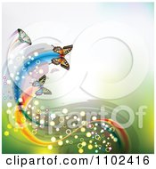 Clipart Butterflies With Magical Trails And Copyspace Royalty Free Vector Illustration