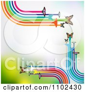 Clipart Butterfly Trail Background 2 Royalty Free Vector Illustration