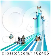Clipart Butterfly Trail Background 7 Royalty Free Vector Illustration