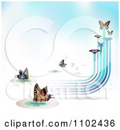 Clipart Butterfly Trail Background 8 Royalty Free Vector Illustration