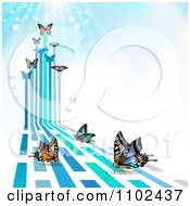 Clipart Butterfly Trail Background 9 Royalty Free Vector Illustration