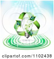 Clipart Butterfly And Renewable Energy Light Bulb Background Royalty Free Vector Illustration by merlinul