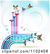 Clipart Butterfly Trail Background 10 Royalty Free Vector Illustration