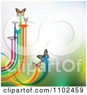 Clipart Butterfly Trail Background 1 Royalty Free Vector Illustration
