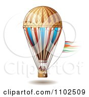 Clipart Couple In A Hot Air Balloon 2 Royalty Free Vector Illustration