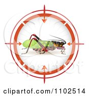 Clipart Locust In A Target Viewfinder 1 Royalty Free Vector Illustration by merlinul