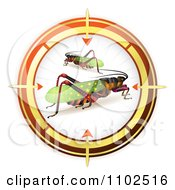 Clipart Locusts In A Target Viewfinder Royalty Free Vector Illustration by merlinul