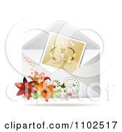Clipart Photo Of Gold Wedding Bands In An Envelope With Lilies Royalty Free Vector Illustration