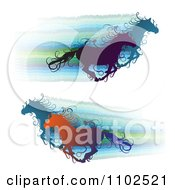 Clipart Running Wild Horses With Steaks Royalty Free Vector Illustration by merlinul