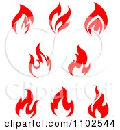 Clipart Red Fires 2 Royalty Free Vector Illustration