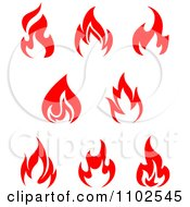 Clipart Red Fires 1 Royalty Free Vector Illustration