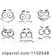 Clipart Pairs Of Expressional Eyes 2 Royalty Free Vector Illustration