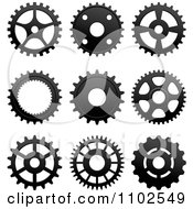 Clipart Black And White Gear Cog Wheels Royalty Free Vector Illustration