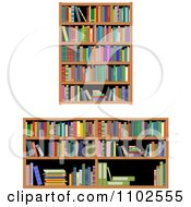 Clipart Library Shelves And Books Royalty Free Vector Illustration