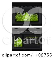 Clipart Website Home Page Interface Templates With Grass And Navigation Bars Royalty Free Vector Illustration by creativeapril