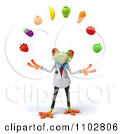 Clipart 3d Doctor Springer Frog Juggling Produce 1 Royalty Free CGI Illustration