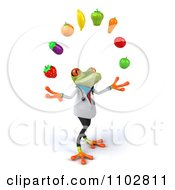 Clipart 3d Doctor Springer Frog Juggling Produce 2 Royalty Free CGI Illustration by Julos