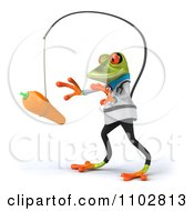 Clipart 3d Doctor Springer Frog Chasing A Carrot On A Stick 2 Royalty Free CGI Illustration