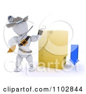 Clipart 3d Illegal Download White Character Pirate With A Folder Royalty Free CGI Illustration by KJ Pargeter