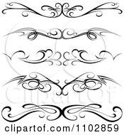 Black Tribal Tramp Stamp Tattoos Or Rule Border Design Elements