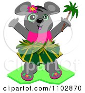 Clipart Happy Hula Girl Mouse Royalty Free Vector Illustration by bpearth
